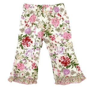 BABY NAY Floral Cotton Leggings with Ruffles 6 mos